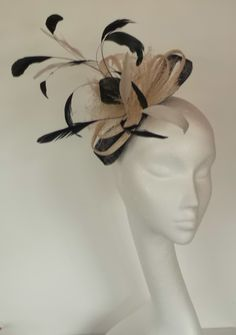 Black and cream fascinator wedding fascinator day at races fascinator. Made in Scotland UK Cream Fascinator, Black Fascinator, Wedding Fascinators, Lavender, Etsy Seller, Scotland Uk, Unique Jewelry, Handmade Gifts, Creative