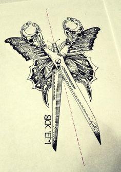 Butterfly Scissors by astenskaya.deviantart.com on @deviantART