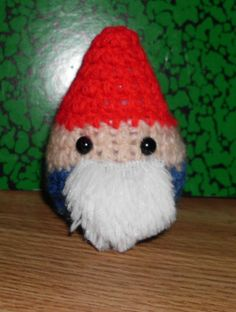 """Hand Knitted Traveling Gnome Doll by The Knitting Gnome.. Cute Little Fellow Only 3"""" by TheKnittingGnomeVT on Etsy"""