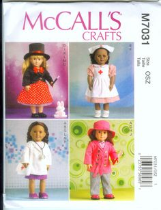 McCall's Pattern 7031 for Clothes for 18 Inch Dolls