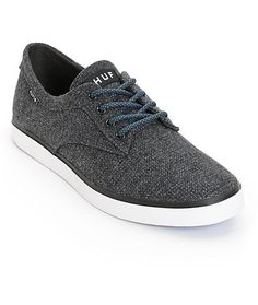 Improve your outfits with a clean dark grey textile upper with an odor and fungus inhibiting Ortholite insole for moisture-wicking comfort.