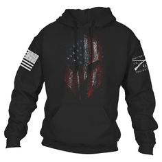 If a small group of Spartans can put up a fight against a massive army, imagine what a large group of American Spartans could accomplish.  Grunt Style's American Spartan 2.0 is now on a super comfortable 50% cotton / 50% polyester blend hoodie. Perfect to fight the winds of winter!  #america #military #molonlabe #patriot #USA