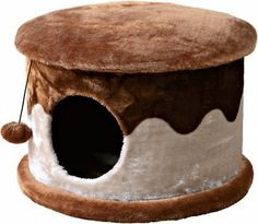 Trixie Cozy Cat Cave, Brown/Beige - Chewy.com