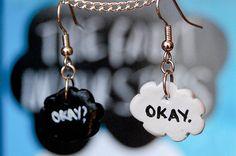 Okay Okay TFiOS Inspired Fishhook Earrings by partialtojam on Etsy,