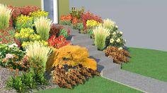 Výsadba pred vstupom do domu býva často najriešenejším miestom v záhrade. Veď kto by nechcel privítať návštevu záplavou kvetov? Prinášame vám tip na žlto-červenú kombináciu. Inšpirujete sa?