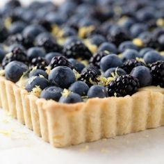 """Berry Lemon Tart Recipe (Go Bold with Butter). """"This lemon pastry cream and berry fruit tart will pair with any assortment of fresh berries you choose."""""""