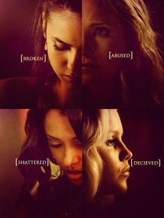 TVD's broken girls. The Vampire Diaries. <3