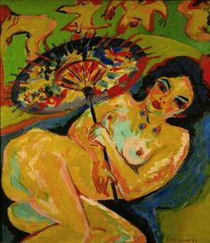 Ernst Ludwig Kirchner | Mädchen unter Japanschirm (Girl under a Japanese Umbrella)