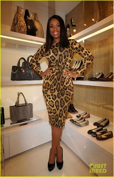 Jennifer Hudson: Fashion's Night Out in Tokyo! Animal print dress