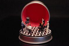 Twin Peaks rouge salle Diorama personnalisé par Boxartig sur Etsy