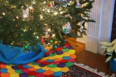 Quilted tree skirt etsy