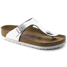 Gizeh Soft Footbed Metallic Silver Leather