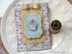 Happy Birthday Card by Audrey Pettit | Sizzix Tutorial | new Embossed Gift Tags by Lori Whitlock and Bow Tied Decorative Strip Die by Tim Holtz
