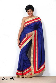 #blue satin chiffon saree with border only at 1999. Order now on www.themagicalthread.com