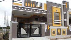 exterior wall design modern house front facade design ideas 2019 - Her Crochet House Front Wall Design, Single Floor House Design, Village House Design, Exterior Wall Design, Bungalow House Design, Small House Design, Facade Design, Modern House Design, Exterior Doors