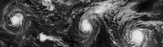 For the First Time on Record, Three Category-4 Hurricanes Occurred Simultaneously in the Pacific Ocean