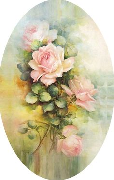 For my oval frame - my site Decoupage Vintage, Decoupage Paper, Watercolor Flowers, Watercolor Paintings, Decoupage Printables, Rose Art, China Painting, Flower Backgrounds, Flower Cards