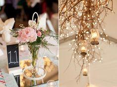 I love the branches with lights  Danielle & Jordan | Bridal and Wedding Planning Resource for Minnesota Weddings | Minnesota Bride Magazine