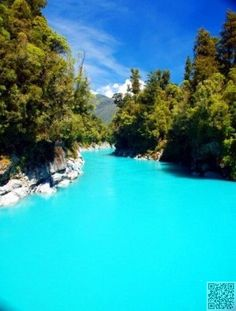 Ross, South Island ,New Zealand ... The stunning color of the glacial melt waters comes from rock flour (minute particles.)
