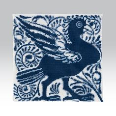 Needlepoint kits: William De Morgan Blue and White Tile Series - Ehrman Tapestry Needlepoint Kits, Victoria And Albert Museum, Design Museum, Cross Stitch Patterns, Original Artwork, Needlework, Blue And White, Design Inspiration, Tapestry