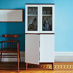 Bar cart + storage in one from West Elm