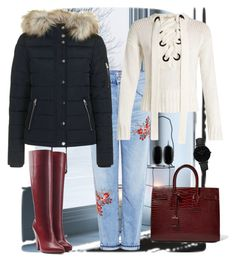 """""""Winter Stroll🌨❄"""" by parnett ❤ liked on Polyvore featuring Citizens of Humanity, Topshop, Joseph, Sonia Rykiel, Yves Saint Laurent, Kendra Scott and CLUSE"""