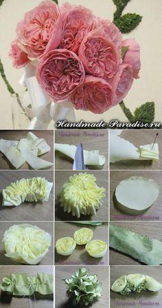 Английская роза Дэвида Остина из ткани. МК   HandMade