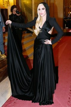 Lady Gaga in Versace, Versace Front Row