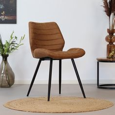 The Morris dining chair is cool, practical and has a great seating comfort which makes dining a true party! This PU leather dining chair will fit in any interior or dining room due to it's neutral but tough appearance. Dining Chairs Uk, Industrial Dining Chairs, Leather Dining Chairs, Dining Table Design, Dining Room Table, Reclaimed Dining Table, Comfortable Dining Chairs, Pub Interior, Esstisch Design