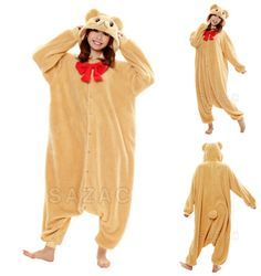 """We love seeing fan reviews like Lauren R.'s below:  """"This is the best thing I have bought myself in my entire life. I wear it pretty much every day and it makes me feel invincible against the cold hard world.""""  The lovable Beige Teddy Bear Kigurumi is available now at: https://kigurumi-shop.com/beige-teddy-bear-kigurumi.aspx.  ^^"""