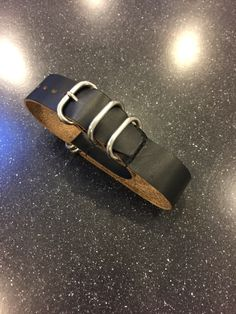 Custom NATO Style strap horween leather from 922Leather.com