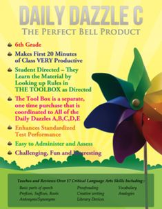 ON SALE Dec. 2 - 3  DAILY DAZZLE C BOOK - 6th grd - FULL YEAR BELL RINGER PROD