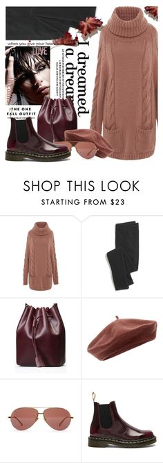 """""""Fall-Sweater Dress"""" by samketina ❤ liked on Polyvore featuring Blumarine, Madewell, Accessorize, Linda Farrow and Dr. Martens"""