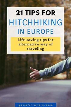 Hitchhiking is a great way to explore a Europe a bit differently. An alternative way of traveling offeres some great travel memories and fun moments. But before heading out it's good to know some hitchhiking tips. Where to stand, how to look and some hacks. It's all covered in that guide. Release your adventurous soul and make some great memories! #hitchhiking #europe #adventure