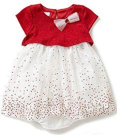 Bonnie Baby Baby Girls Months Sparkle-Knit Popover to Glitter Mesh Dress Baby Girl Newborn, Baby Baby, Baby Girls, Mesh Dress, Christmas Baby, Dillards, Christmas Dresses, Sparkle, Glitter