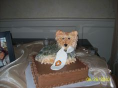 Susie's Wedding Cakes made this cake for our groom.  It is a replica of their dog.
