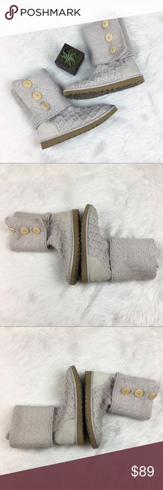 Ugg Australia Lattice Cardy Boots Ugh Australia Lattice Cardy Boots in cream. Size 10. GUC with some stains on right toe as pictured. They can be cleaned off with some elbow grease and the right cleaning technique. I have checked the are authentic, see picture for holographic authenticator tag picture. No box. ❌No trades ❌ Modeling ❌No PayPal or off Posh transactions ❤️ I 💕Bundles ❤️Reasonable Offers PLEASE ❤️ UGG Shoes Ankle Boots & Booties