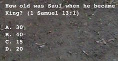 How old was Saul when he became King?
