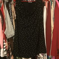 Black & white polka dotted tank! NWOT. I bought this and thought I was going to wear it so I ripped the tag off and then never did. Old Navy Tops