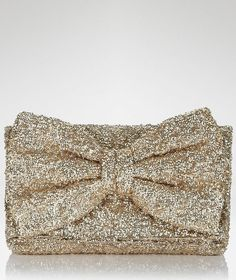 Betsey Johnson Gold glitter  #Bow #Clutch