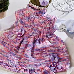 by Sandra Duarte: Vestido para Bebê em Tricô - receita