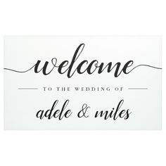 Shop Black & White Calligraphy Wedding Welcome Banner created by RedwoodAndVine. Personalize it with photos & text or purchase as is! Welcome Font, Calligraphy Welcome, Welcome Banner, Wedding Calligraphy, Wedding Fonts, Calligraphy Fonts, Wedding Invitations, Lettering Tutorial, Hand Lettering