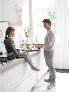 Stuff with a soul | Insidehomepage Amsterdam Houses, White Stain, Child And Child, Bathroom Kids, Im Not Perfect, Kitchen Design, Home And Family, Desk, Modern