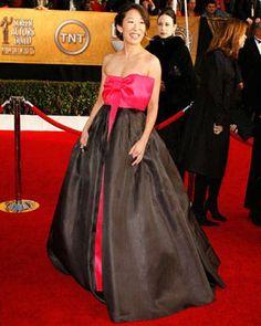 Sandra Oh, Kevin Mckidd, Cristina Yang, Ellen Pompeo, Red Carpet Ready, Sag Awards, Celeb Style, Celebs, Celebrities