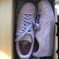sale retailer a5205 3a20c Shop Women s Puma Purple Silver size Athletic Shoes at a discounted price  at Poshmark.