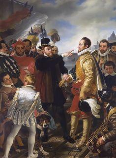 Philip II of Spain berating William the Silent, Prince of Orange