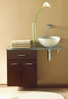 Baño pequeño y sofisticado