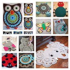 Do you want to make a cute addition to brighten up your kids' room? These cute rugs are fascinating for most kids and they bring an element of fun and originality to a baby's nursery, or to a child's room. If you want to crochet one of these, then head … Crochet Carpet, Crochet Home, Cute Crochet, Crochet For Kids, Crochet Rug Patterns, Crochet Motif, Crochet Designs, Crochet Rugs, Baby Blanket Crochet