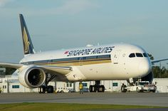 Singapore Airlines First New Boeing Launch 787-10 9V-SCB