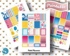 Easter Monthly Kit // Set // PNG // Silhouette // Cricut // April // Planner Love // Erin Condren Stickers // Printable Planner